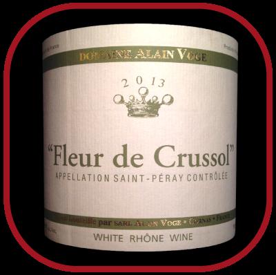 FLEUR DE CRUSSOL 2013 le vin du Domaine Alain Voge pour notre blog sur le vin