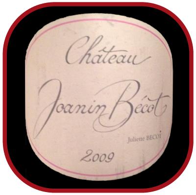 Château JOANIN BECOT 2009 le vin de bordeaux pour notre blog sur le vin