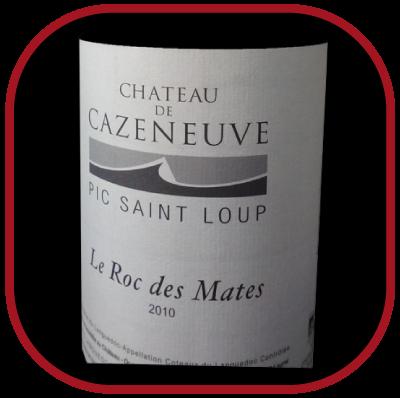 Le Roc des Mates 2010 le vin du Château de Cazeneuve pour notre blog sur le vin