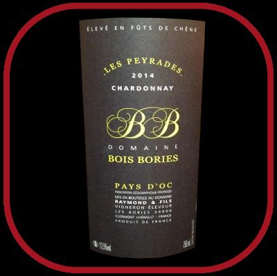 LES PEYRADES BLANC 2014 le vin du Domaine Bois Bories pour notre blog sur le vin
