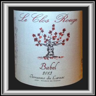 BABEL 2013 le vin du Clos Rouge pour notre blog sur le vin