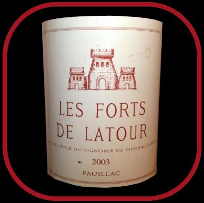 LES FORTS DE LATOUR 2003 le vin de Château Latour pour notre blog sur le vin