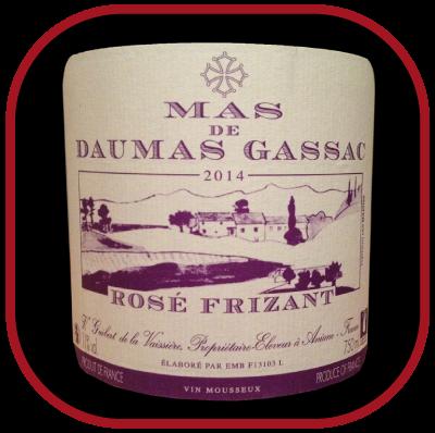 Rosé FRIZANT 2014 le vin du Mas de Daumas Gassac pour notre blog sur le vin