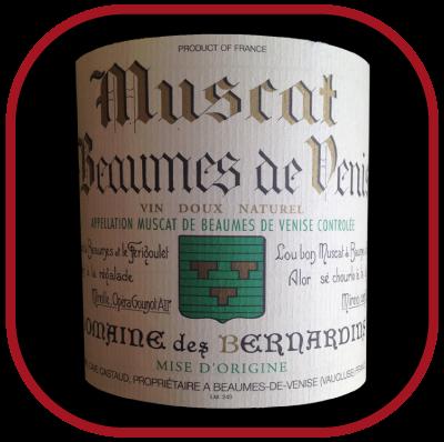 MUSCAT DE BEAUMES DE VENISE 2012 le vin du Domaine des Bernardins pour notre blog sur le vin