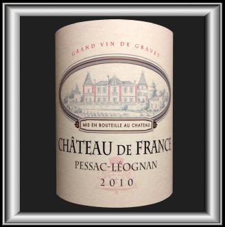 Chateau de France 2010 le vin du chateau de france pour notre blog sur le vin