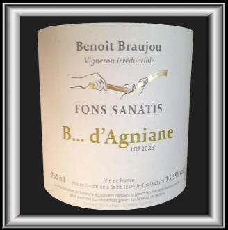 B... D'AGNIANE 2013 le vin de Fons Sanatis pour notre blog sur le vin