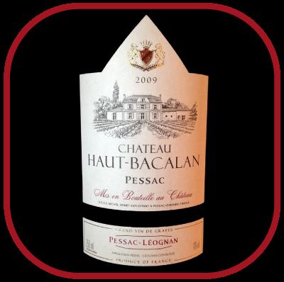 Château Haut Bacalan 2009 pour notre blog sur le vin