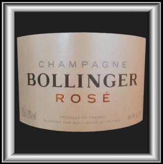BRUT ROSÉ le champagne de Bollinger pour notre blog sur le vin