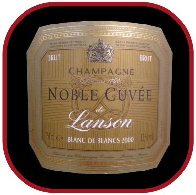 NOBLE CUVEE BLANC DE BLANCS 2000 le Champagne de Lanson pour notre blog sur le vin