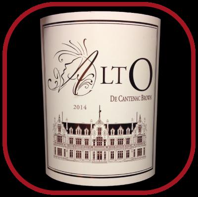 Alto 2014 le vin du Château Cantenac-Brown pour notre blog sur le vin