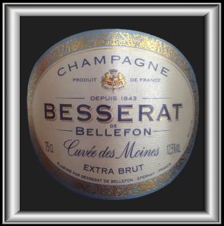 CUVEE DES MOINES EXTRA-BRUT le Champagne de Besserat de Bellefon pour notre blog sur le vin
