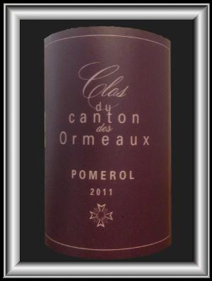 CLOS DU CANTON DES ORMEAUX 2011 le vin du Vignoble Olivier Cazenave pour notre blog sur le vin