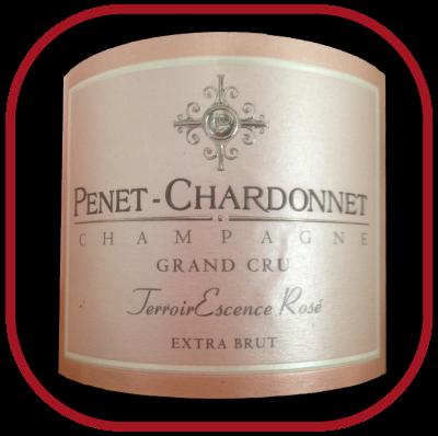 TerroirEscence ROSÉ BRUT NATURE GARAND CRU le champagne de Champagne Penet-Chardonnet pour notre blog sur le vin