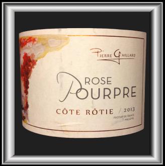 ROSE POURPRE 2013 le vindu domaine Pierre Gaillard pour notre blog sur le vin