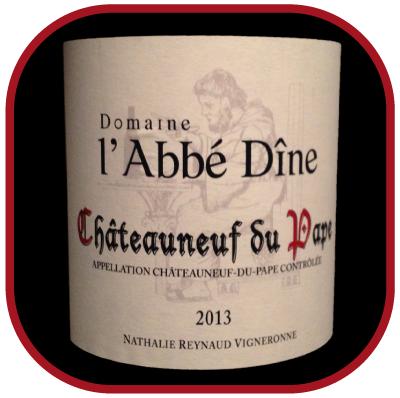 l'Abbé Dîne 2013 le chateauneuf du Pape rouge du Domaine de l'Abbé Dîne pour notre blog sur le vin