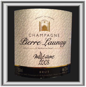 Champagne Pierre Launay BRUT 2008 pour notre blog sur le vin