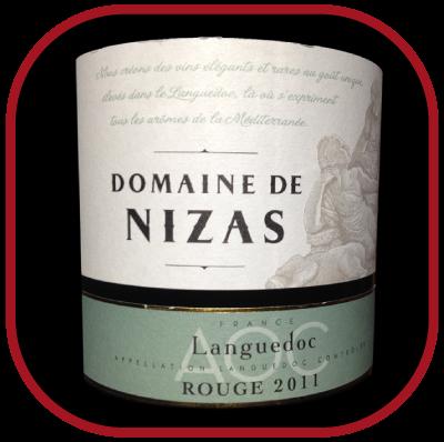 Languedoc Rouge 2011 le vin du Domaine de Nizas pour notre blog sur le vin