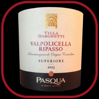 RIPASSO SUPERIORE 2013 le vin de Pasqua Villa Borghetti pour notre blog sur le vin