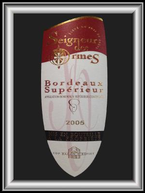 SEIGNEUR DES ORMES 2005 le bordeaux d'UDP Baron d'Espiet pour notre blog sur le vin