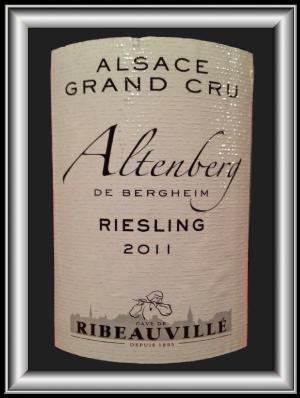 RIESLING ALTENBERG DE BERGHEIM 2011 le riesling grand cru de la Cave de Ribeauvillé pour notre blog sur le vin