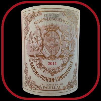 Château Pichon - Longueville Baron 2011 le Pauillac 2e grand cru classé de chateau Pichon Baron pour notre blog sur le vin