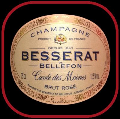 CUVEE DES MOINES Rosé le champagne de Besserat de Bellefon pour notre blog sur le vin