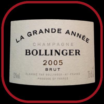 LA GRANDE ANNEE 2005 le Champagne de Bollinger pour notre blog sur le vin