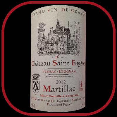 Château Saint Eugène 2012 le Pessac-Léognan du Vignoble Michel Gonet pour notre blog sur le vin