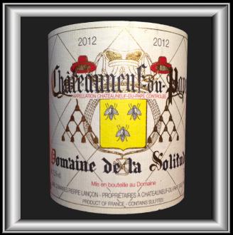 TRADITION 2012 le Châteauneuf du Pape du Domaine de la Solitude pour notre blog sur le vin
