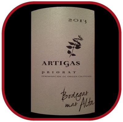 ARTIGAS 2013 le Priorat de Bodegas Mas Alta pour notre blog sur le vin