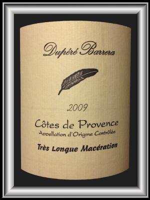 Cuvée Très Longue Macération 2009 le vin du Vignoble Dupéré Barrera pour notre blog sur le vin