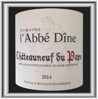 Domaine de l'Abbé Dîne BLANC 2014 le châteauneuf du pape de Nathalie Raynaud pour notre blog sur le vin