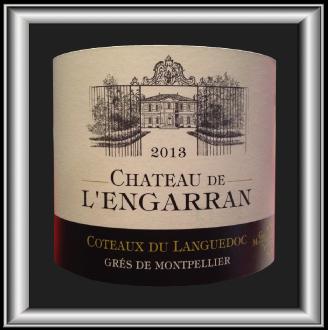 CHATEAU DE L'ENGARRAN 2013 le Grès-de-Montpellier du Château de l'Engarran pour notre blog sur le vin