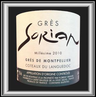 GRÈS 2010 le Grés de Montpellier du Domaine Clos Sorian pour notre blog sur le vin