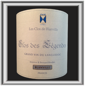 CLOS DES LÉGENDES 2011 le Grés de Montpellier du Château Haut-Blanville pour notre blog sur le vin