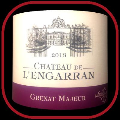 GRENAT MAJEUR 2013 le Grés de Montpellier du Château de l'Engarran pour notre blog sur le vin