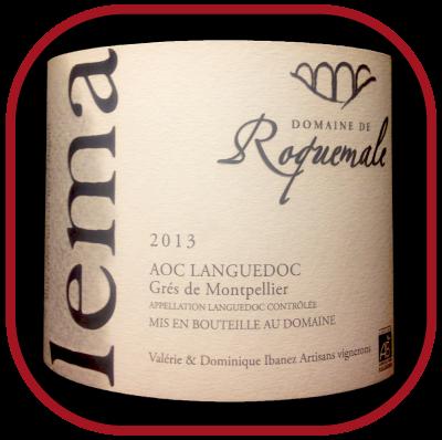 LEMA 2013 le Grés de Montpellier du Domaine de Roquemale pour notre blog sur le vin