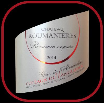 ROMANCE EXQUISE 2014 le Grés de Montpellier du Château Roumanières pour notre blog sur le vin