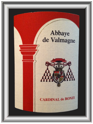 CARDINAL DE BONZI 2012 le Grés de Montpellier de l'Abbaye De Valmagne pour notre blog sur le vin