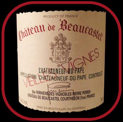 VIEILLES VIGNES 2007 le vin blanc du Château de Beaucastel pour notreblog sur le vin
