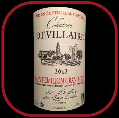 ST-EMILION GRAND CRU 2012 LE VIN DU Château Devillaire pour notre blog sur le vin