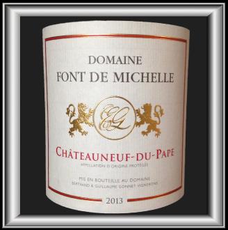 TRADITION ROUGE 2013 le Chateauneuf-du-Pape du Domaine Font de Michelle pour notre blog sur le vin