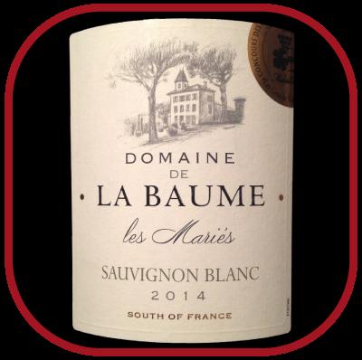 LES MARIÉS 2014le vin blanc du Domaine La Baume pour notre blog sur le vin