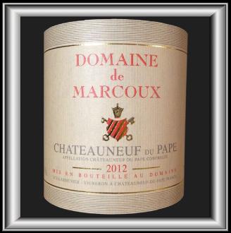 Domaine Marcoux Châteauneuf-Du -Pape 2012 pour notre blog sur le vin