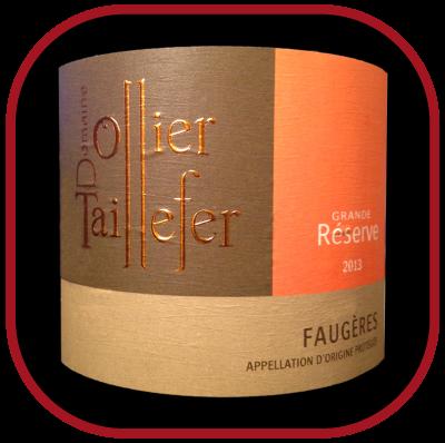 GRANDE RESERVE 2013 le vin rouge du Domaine Ollier Taillefer pour notre blog sur le vin