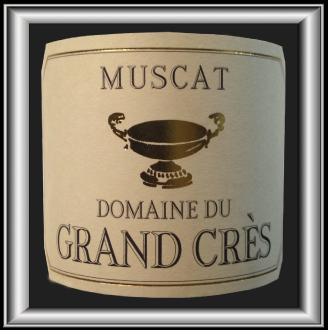 MUSCAT 2008 LE VIN DE DESSERT DU Domaine du Grand Crès POUR NOTRE BLOG SUR LE VIN