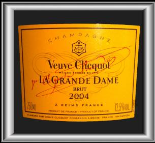 LA GRANDE DAME 2004 le champagne de la maison Veuve Clicquot pour notre site sur le vin