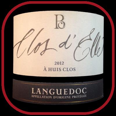 À HUIS CLOS 2012 le vin du Domaine Clos d'Elle