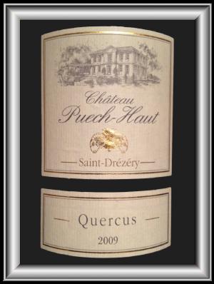 QUERCUS 2009 le parcellaire du Château Puech-Haut pour notre blog sur le vin