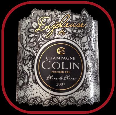 ENJÔLEUSE 2007 le blanc de blanc millésimé de Champagne Colin pour notre blog sur le vin